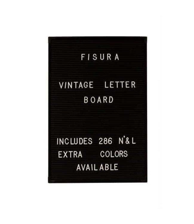 Fisura Letterbord zwart