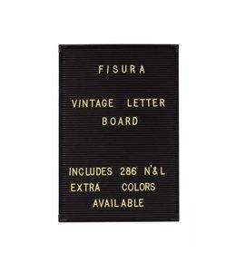 Fisura Gele letters voor letterbord