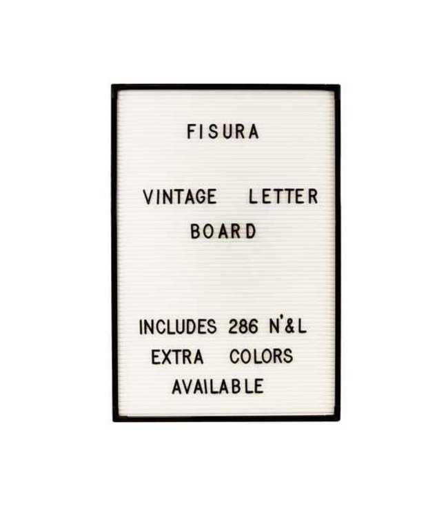 Fisura Letterbord wit