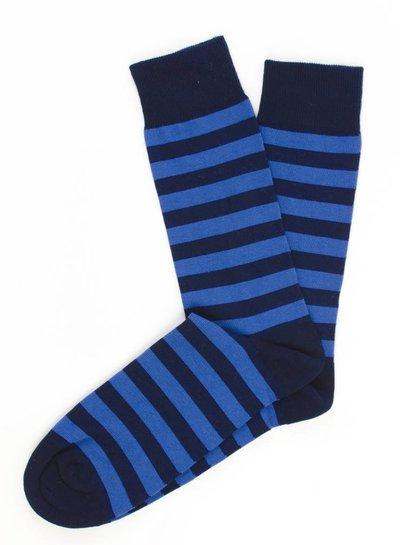 Navy socks, blue stripes