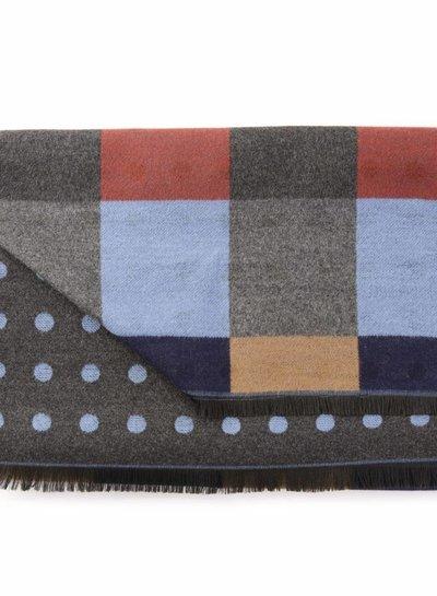 Sjaal 2 zijdig multicolor