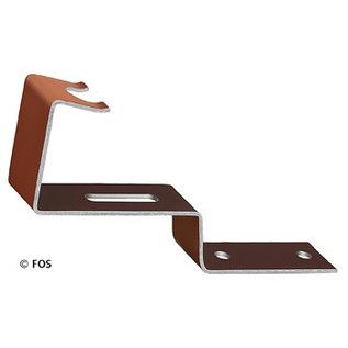vorsthaak 470/029 aluminium bruin (doos à 50 stuks)