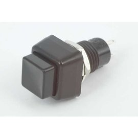 Miyama Drukknop zwart vierkant off-on