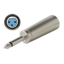 6.3mm mono jackplug-XLR (F) mono