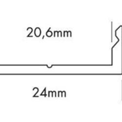 Ohmeron Aluminium profiel 24x8mm