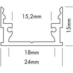 Ohmeron Aluminium profiel 24x15mm
