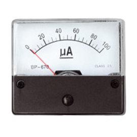 Blanko Paneelmeter 0-100uA DC