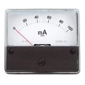 Blanko Paneelmeter 0-100mA DC