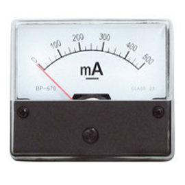 Blanko Paneelmeter 0-500mA DC