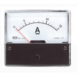 Blanko Paneelmeter 0-15A DC