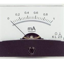 Draaispoel paneelmeter 0-1mA DC
