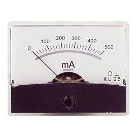 Blanko spiegelschaal paneelmeter 0-500mA DC
