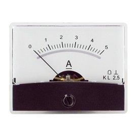 Blanko spiegelschaal paneelmeter 0-5A DC