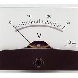 Blanko spiegelschaal paneelmeter 0-30V DC