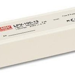 Meanwell led voeding IP67 24 Volt - 100 Watt 190x52x37mm