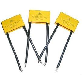 Ohmeron Ontstoorcondensator 100N 275V met geïsoleerde draden