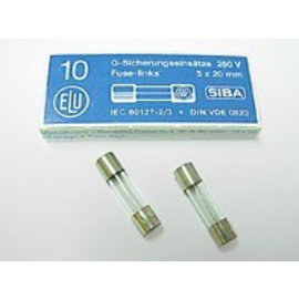 Ohmeron Zekering 5x20mm - traag - 80mA - 230V