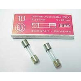 Ohmeron Zekering 6,3x32mm - snel - 500mA - 230V