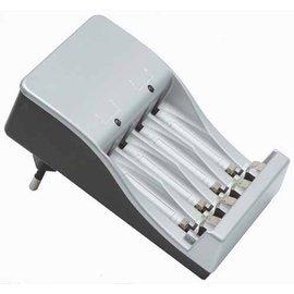 Ohmeron Universele batterijlader voor AA en AAA batterijen