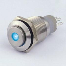 Sintron Connect Drukknop 16mm blauw 4-12V