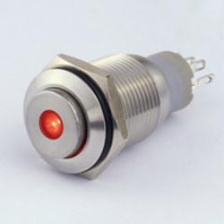 Sintron Connect Drukknop 16mm rood 12V