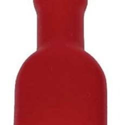 Ohmeron Geisoleerd opschuifcontact vrouwelijk 6,3x0,8mm Rood - 100 stuks