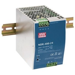 Meanwell Ind. voeding voor DIN-RAIL 24V 480W