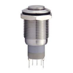 Sintron Connect drukknop met ringverlichting 16mm blauw 4-12V