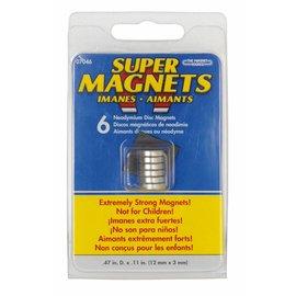 Sintron Magnetics Magneetset 6 stuks 12 x 3mm