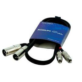 Kirlin RCA  XLR M kabel 1mtr