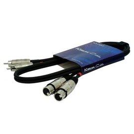 Kirlin RCA XLR F kabel 1mtr