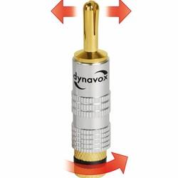 Audio Dynavox dynavox banaanstekker set  met uitzetbare tip 4 delig