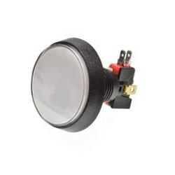 Grote Arcade LED drukknop wit D: 60 mm
