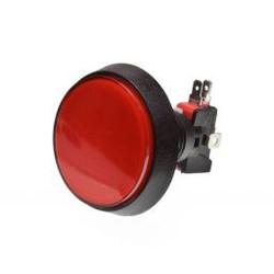 Grote Arcade LED drukknop rood D: 60 mm