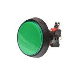 Grote Arcade LED drukknop groen D: 60 mm