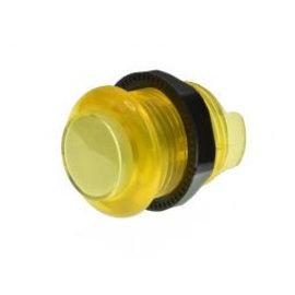 Lichtgevende arcade drukknop  geel