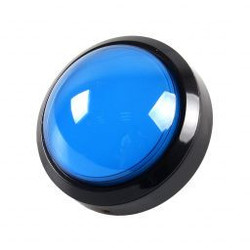 Grote Arcade led dome drukknop blauw D: 100mm