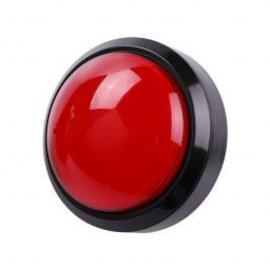 Grote Arcade led dome drukknop rood