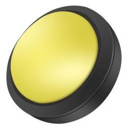 Grote Arcade led dome drukknop geel D: 100mm