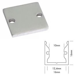 Aluminium End cap voor ALUPRO-S3