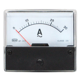 Blanko Paneelmeter 0-30A AC