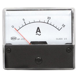 Blanko Paneelmeter 0-15A AC