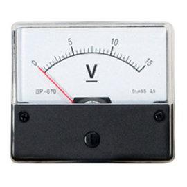 Blanko Paneelmeter 0-15V DC