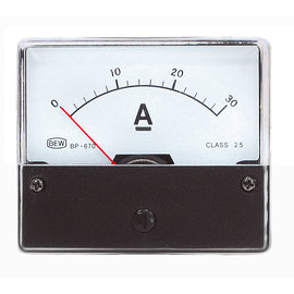 Blanko Paneelmeter 0-30A DC