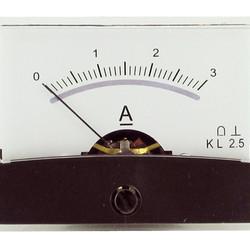 Blanko spiegelschaal paneelmeter 0-3A DC