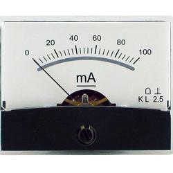 Blanko spiegelschaal paneelmeter 0-100mA DC