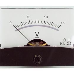 Blanko spiegelschaal paneelmeter 0-15V DC