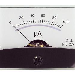 Draaispoel paneelmeter   0-100uA DC