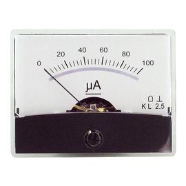 Blanko spiegelschaal paneelmeter 0-100uA DC