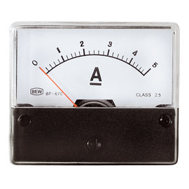 Blanko Paneelmeter 0-5A DC